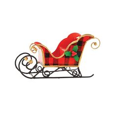Decorate for the season with this wonderful Buffalo Check Sleigh Christmas Ornament. Perfect for your home or as a gift for a friend or loved one. It's sure to delight year after year. Holiday Canvas, Christmas Canvas, Christmas Frames, Christmas Paintings, Christmas Rock, Christmas Train, Winter Christmas, Christmas Sleighs, Doodle Pictures