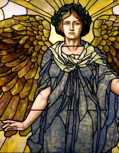 Tiffany-style stained glass angel. #vitraux