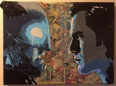 Batman V Superman  Comic Book Spray Canvas by Rettopshop on Etsy