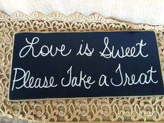 Rustic Navy Blue and White Love is Sweet