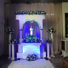 Altar de Nossa Senhora, foi trabalhado pátina provensal branca com dourado, Santuário Eucarístico Bom Jesus Aparecido de Sousa -PB