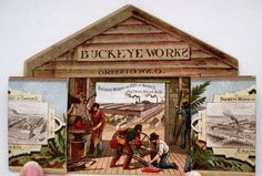 1800's Buckeye Trade Card Wins First Gold Medal for Harvesting Machine | eBay