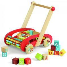 Loopwagen 'ABC' van Janod   Speelgoed Kiki