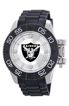 Men's Game Time Watches 'NFL Beast - Oakland Raiders' Flexible Strap Watch