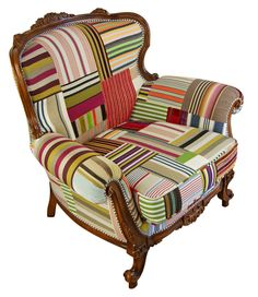 Patchwork Chair by Kelly Swallow, available @curatedonline