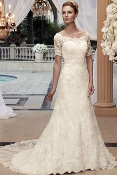 Classic Hollywood Glam Modest Romantic Vintage Ivory $$ - $701 to $1500 $$$ - $1501 to $3000 3/4 Sleeve A-line Beading Casablanca Bridal Flo...