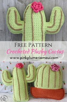 This is a free crochet pattern for a Crocheted Plushy Cactus Pillow. A Crocheted Plushy Cactus Pillow is perfect for any home and would make a wonderful gift for anyone. Cactus lovers will love this in their lives. Kawaii Crochet, Crochet Gratis, Crochet Yarn, Crochet Toys, Free Crochet, Crochet Cactus Free Pattern, Crochet Pillow Patterns Free, Sewing Patterns Free, Knitting Patterns