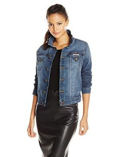 """Hudson signature jacket is fitted through the waist, with iconic pocket details and a soft washed down denim fabric.       Famous Words of Inspiration...""""Badness is only spoiled goodness.""""   C.S. Lewis — Click here for more from C.S....  More details at https://jackets-lovers.bestselleroutlets.com/ladies-coats-jackets-vests/denim-jackets/product-review-for-hudson-womens-signature-denim-jacket-in-tambourine/"""