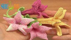 Crochet Bell Flower Tutorial 71 Part 2 of 2 Free Crochet Flower Patterns