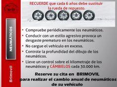 Reserve su cita en BRIMOVIL para realizar el cambio anual de neumáticos de su vehículo: http://www.brimovil.com