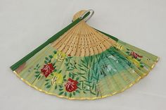 antique hand painted Japanese fan