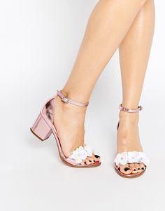 Image 1 ofASOS HEXAGON Embellished Heeled Sandals