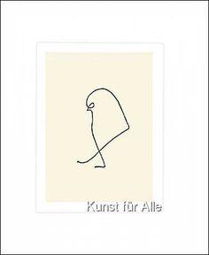 Pablo Picasso: Le moineau, Art Print, Canvas on Stretcher, Framed Picture Pablo Picasso, Cubist Movement, Georges Braque, Spanish Painters, Doodles Zentangles, Art For Art Sake, Art World, Illustration Art, Illustrations
