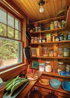 Snapshots of Island Life - Old-House Online Tiny Cabins, Cabins And Cottages, Beach Cottages, Burlington House, House Journal, Fairytale Cottage, Cabin Kitchens, Cottage In The Woods, Rustic Room