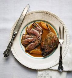 Duck a l Orange - The recipe for this dish is based on one in James Peterson's Glorious French Food (John Wiley Sons, 2002).