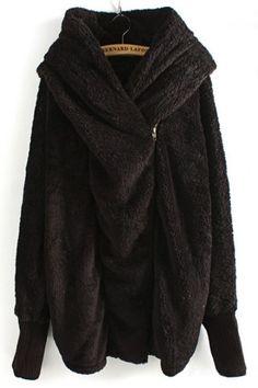 Berber Fleece Hooded Coat - OASAP.com