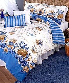 Coastal Comforter Set 5 Pc * Click on the image for additional details.