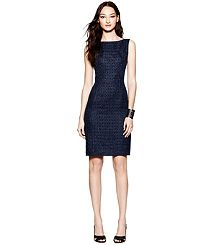 JACKSON TWEED DRESS - great option for traveling - I love the flattering boat neck and defined waist.