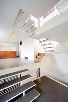 So many stairs. House in Senri by Shogo Iwata Architects