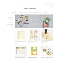 June & December ecommerce site design by Aeolidia