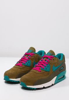 Nike Sportswear AIR MAX 90 - Baskets basses - dark loden/radiant emerald/military green - ZALANDO.FR