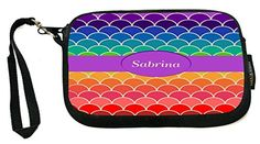 UKBK Nan Name on Rainbow Scallop - Neoprene Clutch Wristlet with Safety Closure - Ideal case for Camera, Cell Phone, Gameboy, Passport, Cosmetics case Nanami, Cosmetic Case, Season Colors, Monogram Initials, Wristlet Wallet, Cell Phone Cases, Drawstring Backpack, Knight, Wristlets