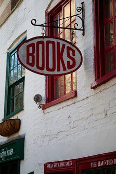 Books Sign by thomasheylen, Cambridge, England via Flickr