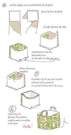 Big Bag tutorial - in French but clear pictures to follow