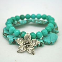 Turquoise and flower