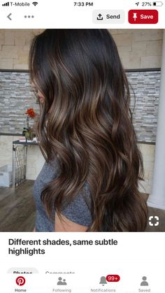 Brown Hair Colors Ideas For Winter Gray Hair Sytles - Brown Hair Colors Ideas For Winter By Admin Posted On Gorgeous Long Shiny Hair Is A Sign Of Good Health Feminine Wellbeing Beautifulhair Posted In Balayage Hair Tagged Balaya Brown Hair Balayage, Hair Color Balayage, Subtle Balayage Brunette, Dark Brown Hair With Caramel Highlights, Partial Balayage Brunettes, Brunette Hair Colors, Dark Brown Hair With Highlights Balayage, Black Hair With Brown Highlights, Babylights Brunette