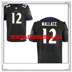 Men s Baltimore Ravens  12 Mike Wallace Black Alternate Stitched NFL Nike  Elite… f4c238941