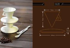 Ceramic Cone Coffee Mug (set of 2) - FeelGift