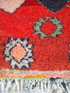 Moroccan Middle Atlas Berber Rug A Typical Example of Rural Weaving with Bold | eBay