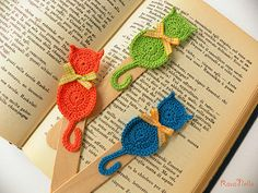 Gattini multicolor | Segnalibri all'uncinetto con stecca in … | Flickr