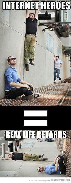 Internet vs. real life…