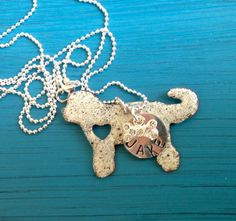 NEW Goldendoodle Custom Copper Necklace Dog by tagsoup
