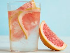 Grapefruit-Infused Water : A twist on the classic lemon water, this beverage has the subtle splash of fresh citrus to up the refreshment factor, but with a new, sweet-tart flavor to keep things interesting.