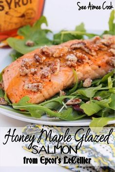 Honey Maple Glazed Salmon from Epcot's LeCellier | See Aimee Cook