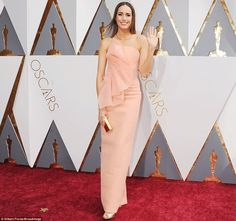 Brie Larson and Alicia Vikander shine in colourful gowns as they lead glamour on the Academy Awards red carpet | Daily Mail Online