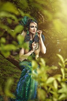 Peacock Queen Green sequin by PoshFairytaleCouture