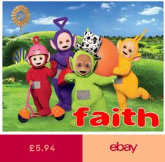 Teletubbies Tinky Winky Dipsy Laa Laa Po Birthday Card A5 Personalised own words