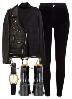 """""""Untitled #6099"""" by laurenmboot ❤ liked on Polyvore featuring River Island, H&M, Jakke, American Apparel, Love and rag & bone"""