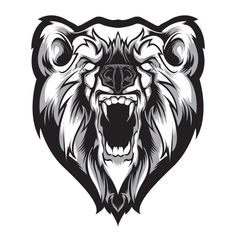 082 - Recent Work by Joshua M. Smith, via Behance Ours Grizzly, Urso Bear, Drawing Sketches, Drawings, Graffiti, Desenho Tattoo, Bear Art, Animal Heads, Ink Illustrations