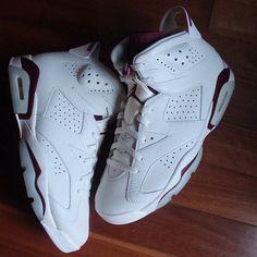 "Men & youth sizes in stock in the Nike Air Jordan 6 Retro ""Maroon"" at kickbackzny.com."