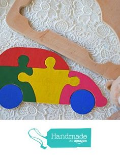 Waldorf Wooden puzzle Baby Toy Car Montessori Educational Toys wood transport puzzles Baby Shower Gift Organic learning game Baby boy Gift sorting toys Stacking Eco friendly Toddler game from KatrinHandmadeGifts