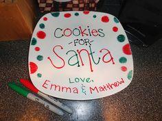 cookies for santa plate!