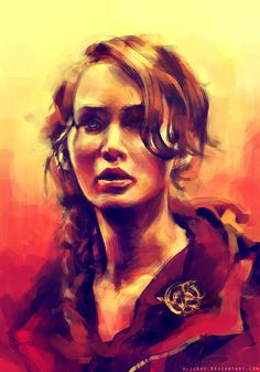 Katniss by ^alicexz on deviantART  One of my favourite artist on deviantArt, with a painting of one of my favourite literary characters :)