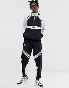 Mode Streetwear, Streetwear Fashion, Urban Style Outfits, Fashion Outfits, Top Asos, Logo Vert, Tracksuit Set, Kappa, Urban Fashion