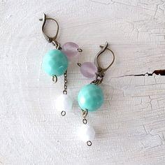 cute dangle earrings from fillefleurs on Etsy
