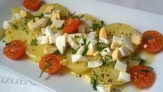 Ensalada de patata Dessert Drinks, Dessert Recipes, Desserts, Cooking Recipes, Healthy Recipes, Healthy Meals, Healthy Food, Caprese Salad, I Foods
